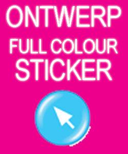 Ontwerp en Bestel Full colour Stickers (Geprint op wit Vinyl)