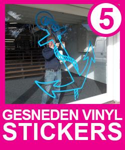 Gesneden Vinyl Stickers (Plakletters)