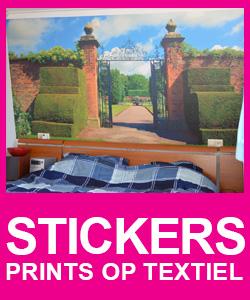 Textiel Stickers, prints op textiel