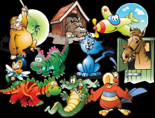 Kinderkamer, muurstickers, voorbeelden, 001