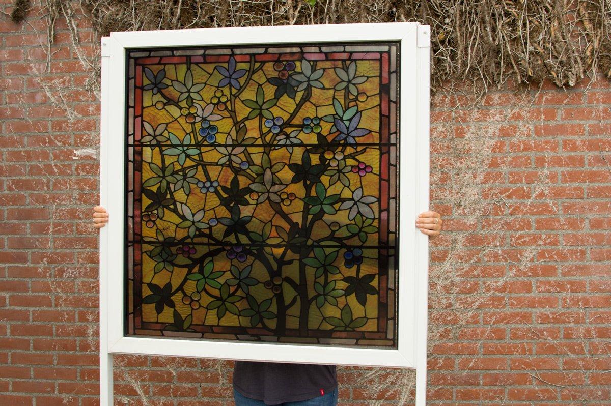 Transparante raamfolie (3), glas-in-lood, klassiek