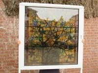 transparante raamfolie, glas in lood