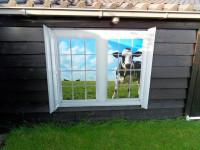 muursticker (B), buiten, tuin, koe, weerbestendig, waterbestendig