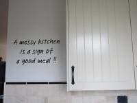 Muurteksten gesneden, keuken
