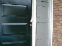 Gesneden raamfolie (1), voordeur, entree, portiek, motief