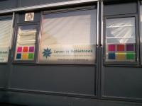 Full colour raamfolie (2), kantoor, logo, huisstijl