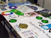 Diverse stickers, diverse vormen, diverse afmetingen, op maat, vorm gesneden, groot