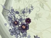 Muursticker, bloemen