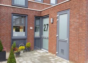 raamfolie, deur, huisnummer