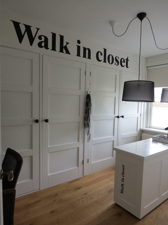 Muurstickers gesneden (C) muurtekst, walk in closet