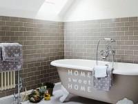 Muurstickers gesneden (C) muurteksten, badkamer, wit
