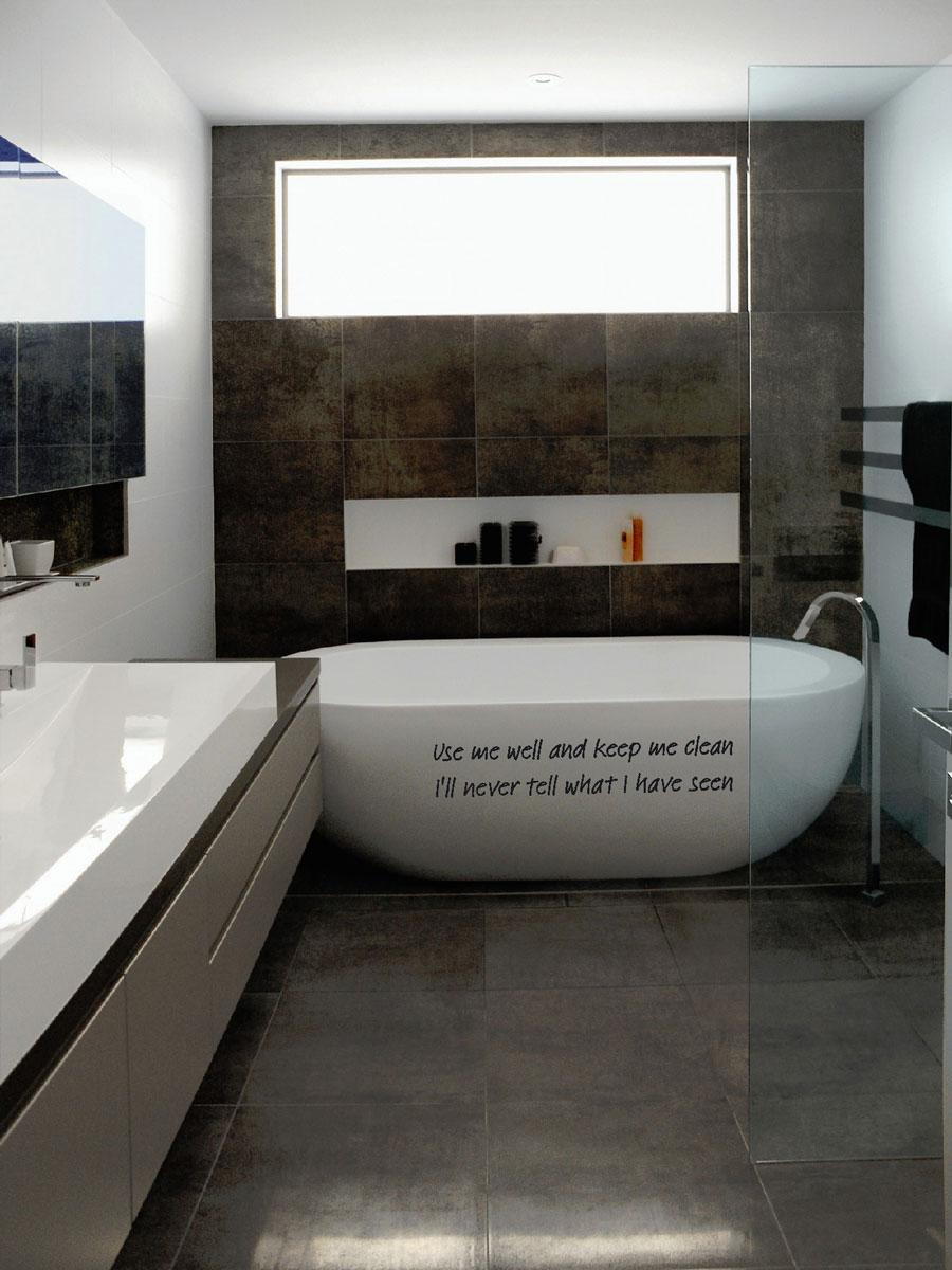 Muurstickers gesneden (C) muurteksten, badkamer, bad