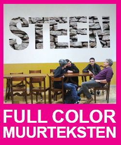 muurstickers tekst full color bestellen