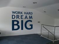 Muurstickers gesneden (C) muurteksten, kantoor, blauw