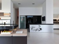 Muurstickers gesneden (C) muurteksten, keuken, koffie, zwart