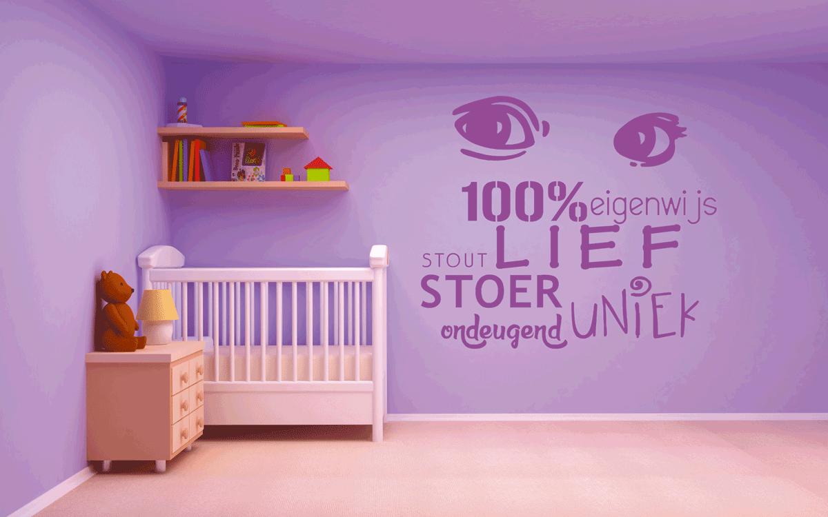 Muurstickers Kinderkamer Belgie.Muurstickers Tekst Zelf Op Maat Ontwerpen
