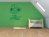 Muurstickers gesneden (C) muurteksten, kinderkamer, groen, stoer