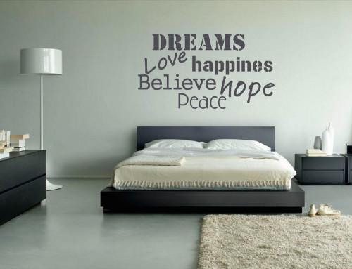 Muurstickers gesneden (3) muurteksten, slaapkamer