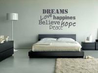 muurteksten, slaapkamer