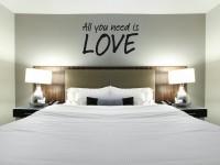 Muurstickers gesneden (C) muurteksten, slaapkamer, love, zwart