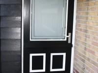 raamfolie, deur, kader, schuurdeur