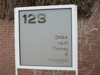 raamfolie, huisnummer, namen