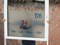 raamfolie, voordeur, bedrukt