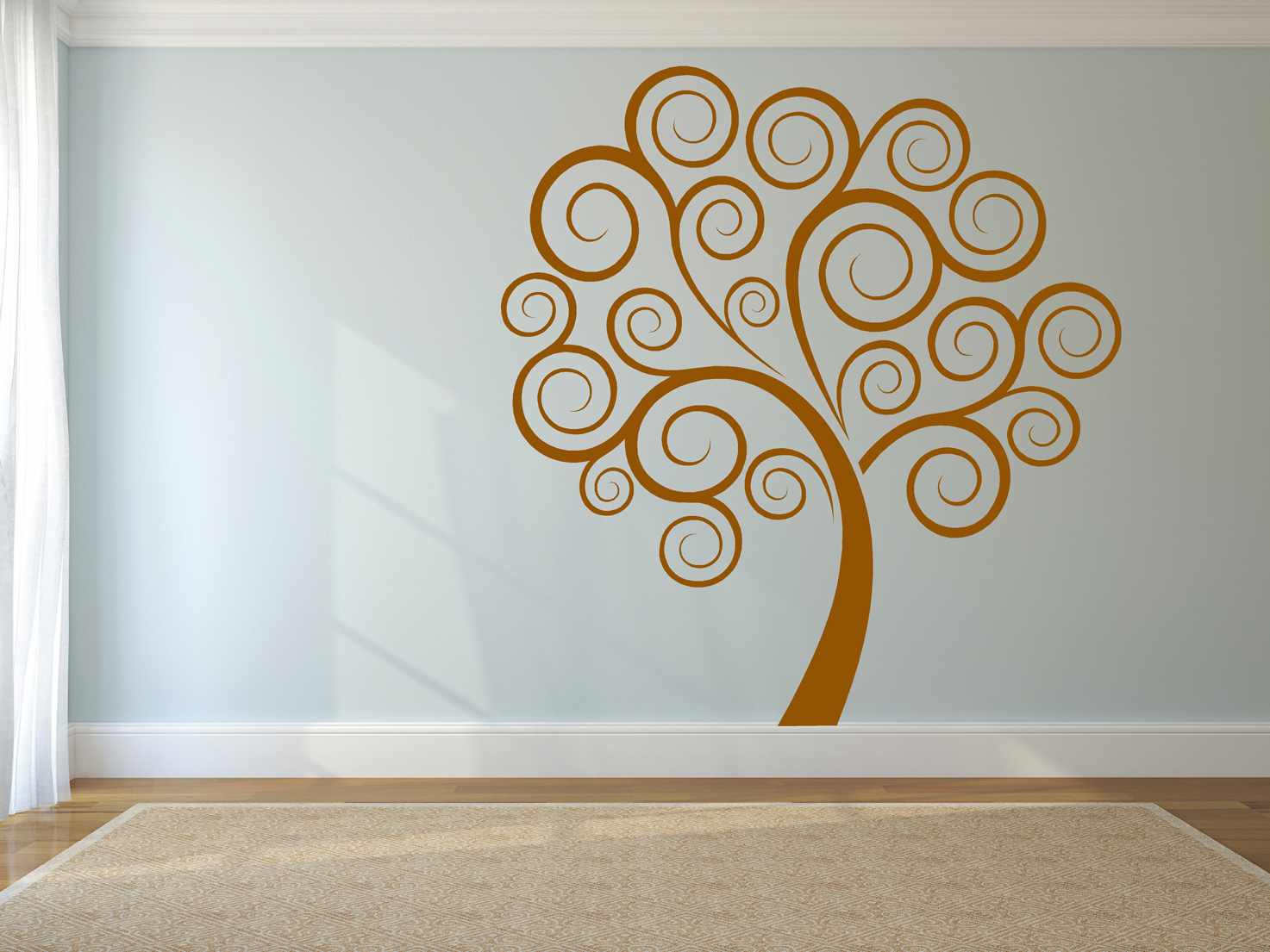 Muurstickers van Bomen voor in de woonkamer - PLAKhetZelf