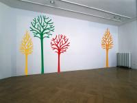 Muursticker gesneden (C), boom, studio, muur, groot, diverse kleuren, blauw, muursticker