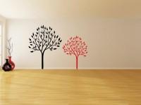 Muurstickers (C), boom, muur, groot, zwart, rood, gesneden vinyl, muursticker