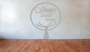 Muursticker Home Sweet Home.Muurstickers C Boom Muur Groot Grijs Home Sweet Home