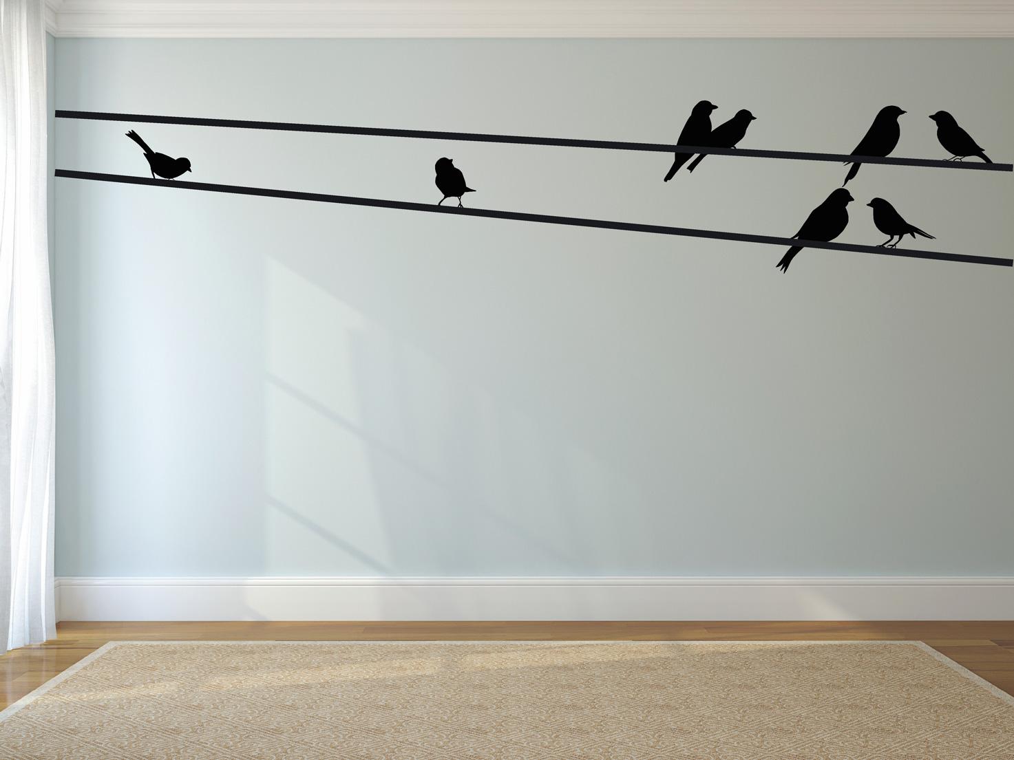 muurstickers c vogels groot muursticker zwart