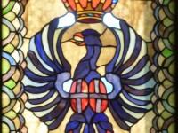 Bedrukte glasfolie (2), raamfolie, glas-in-lood, familiewapen, crest, wapen, family