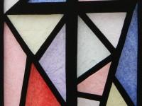 Raamfolie, glas-in-lood, kruis, modern, voorbeeld