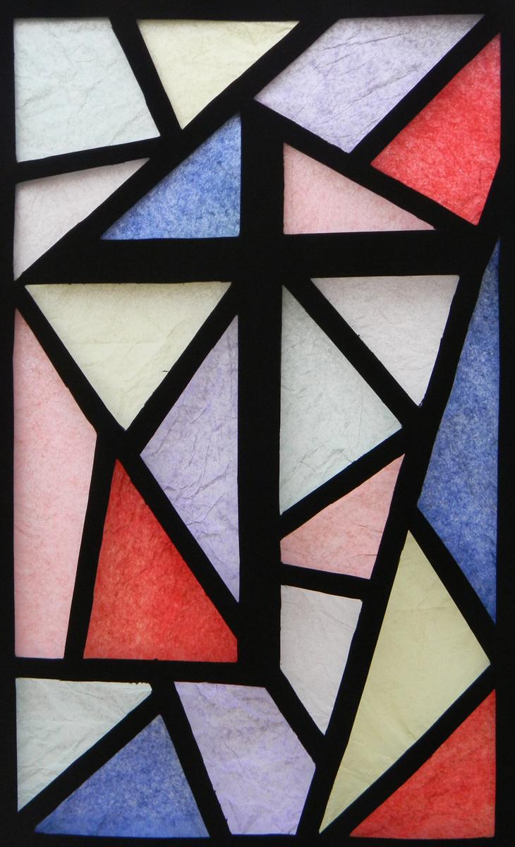 glas-in-lood, raamfolie, voorbeeld, modern