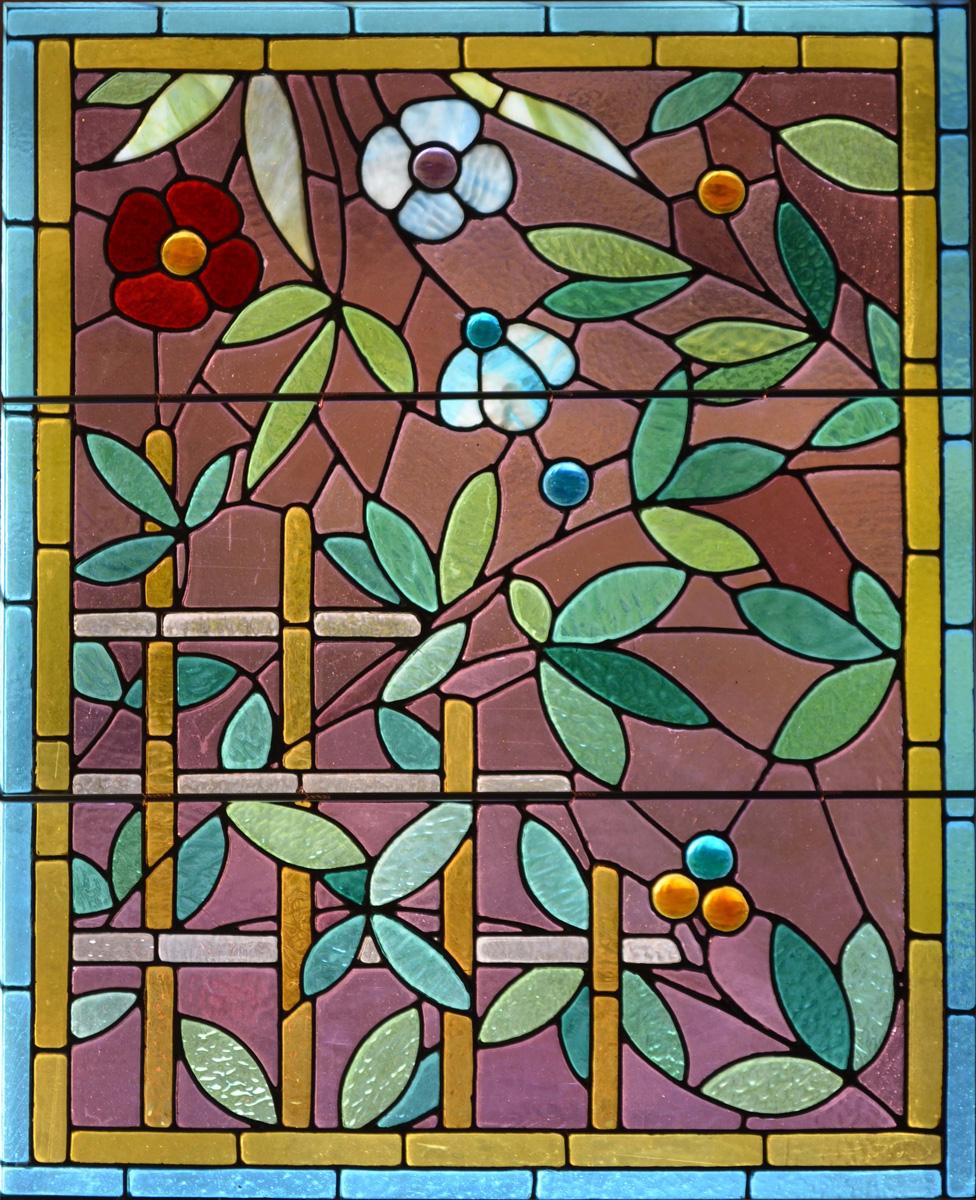 raamfolie glas in lood bloemen raamfolie glas in lood kruis