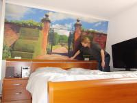 Muursticker (A), plaktextiel aanbrengen, groot, muursticker, aanbrengen, slaapkamer
