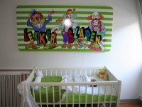 Muursticker (B), kinderkamer, sticker, babykamer