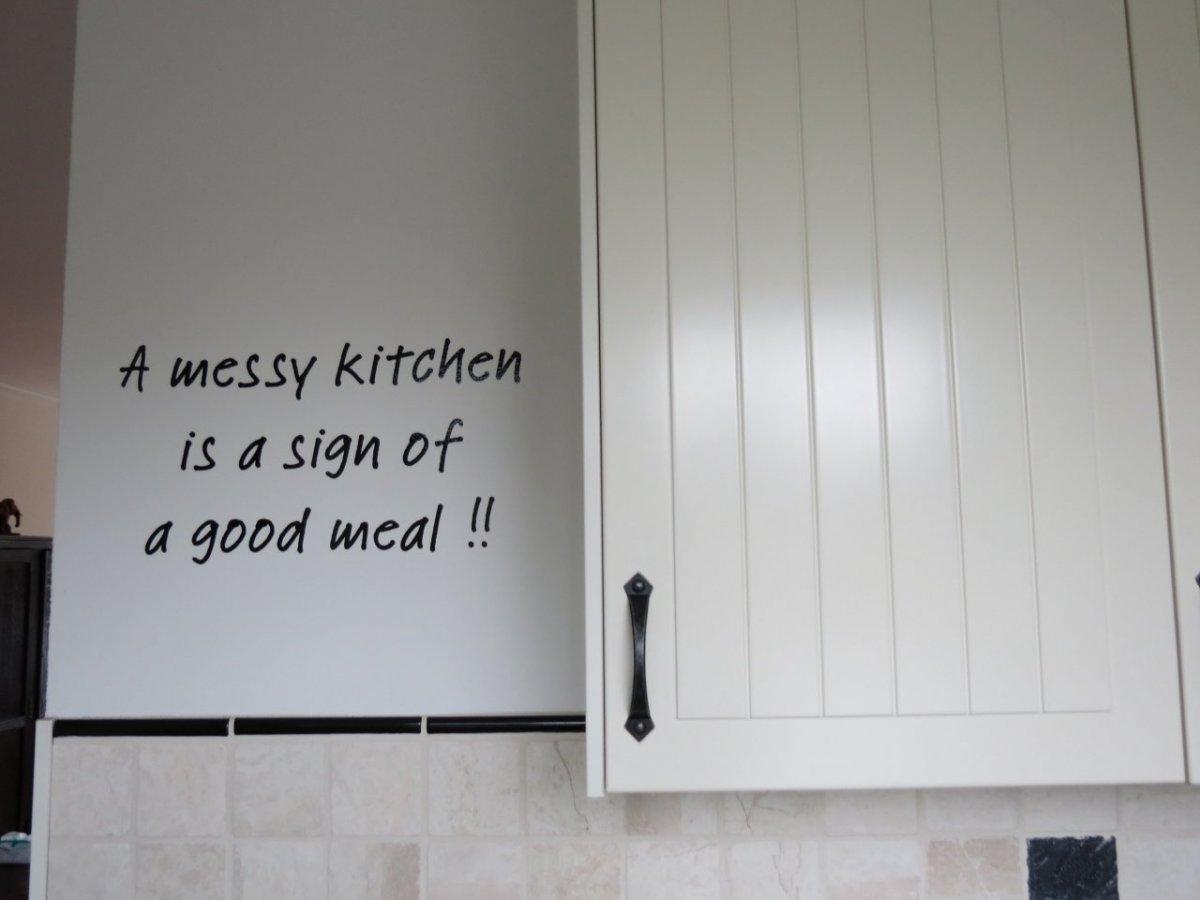 Gesneden tekst folie keuken muursticker img 3634 plakhetzelf