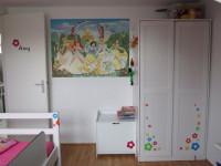 Diverse muurstickers (A, C), kinderkamer, prinsessen, bloemen