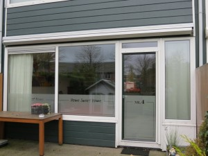 Gesneden glasfolie (1), woonkamer, huisnummer, home sweet home