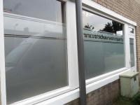 Gesneden glasfolie (1), opslagruimte, bedrijfsnaam, naam