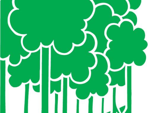 Muursticker bomen, contour gesneden, groen vinyl
