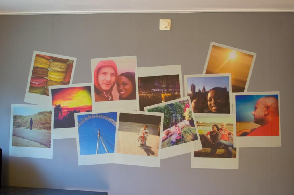 Polaroid foto's, plaktextiel, muursticker, (A)