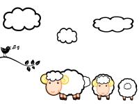 Raamstickers, kinderkamer, schapen