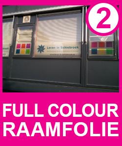 Raamfolie, full colour, ontwerpen , bestellen