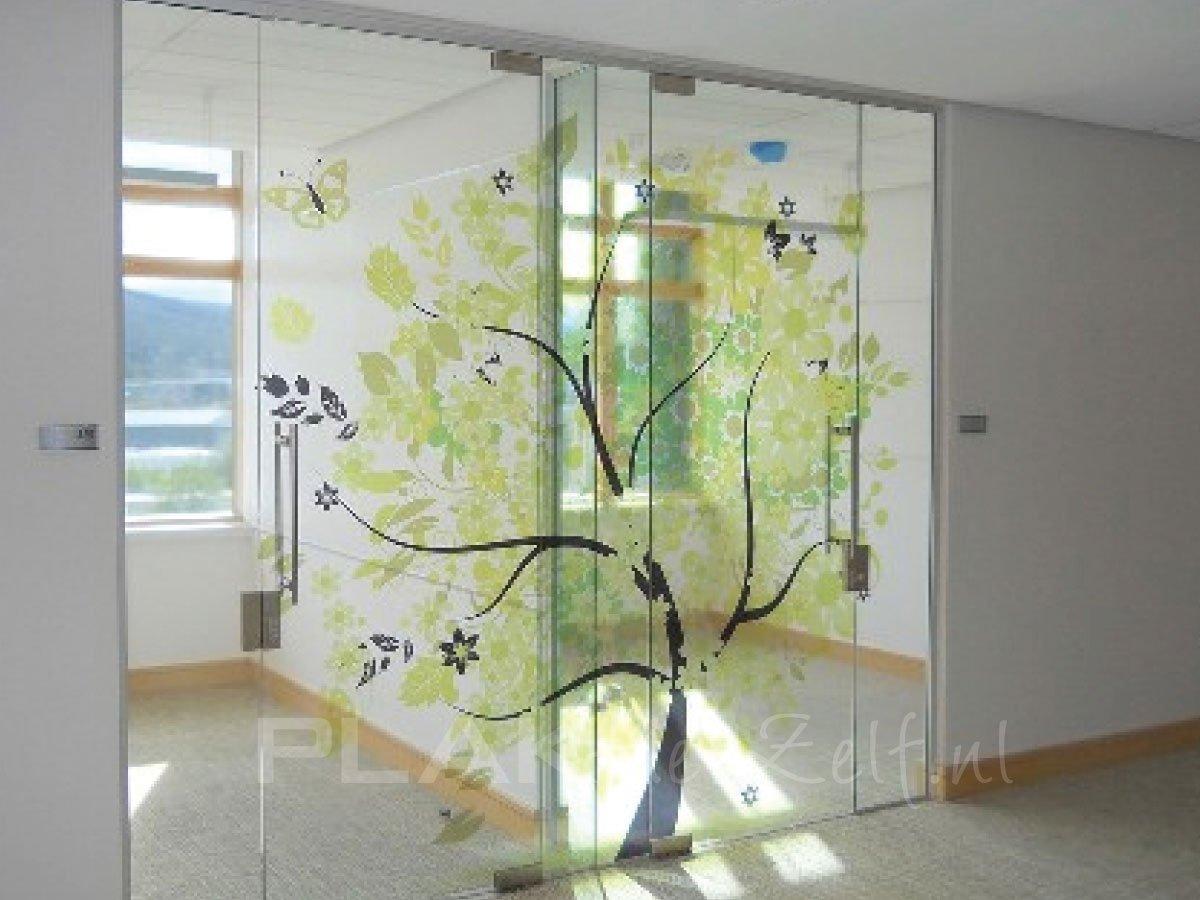 Deurstickers zelf online ontwerpen - Kantoor transparant glas ...