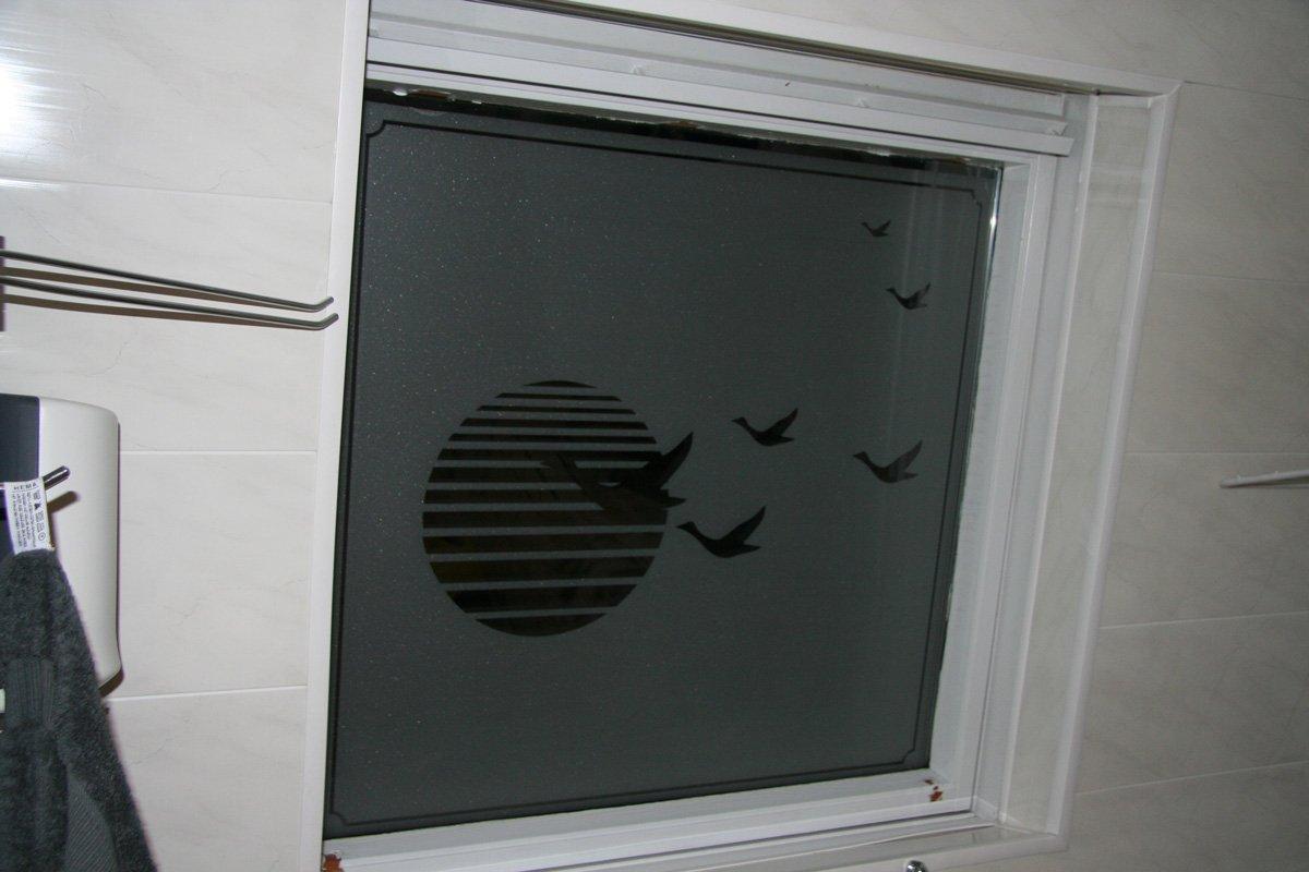Badkamer Idee Natuur : Bathroom Frosted Window Film