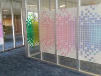 Transparante raamfolie (3), kantoor, project