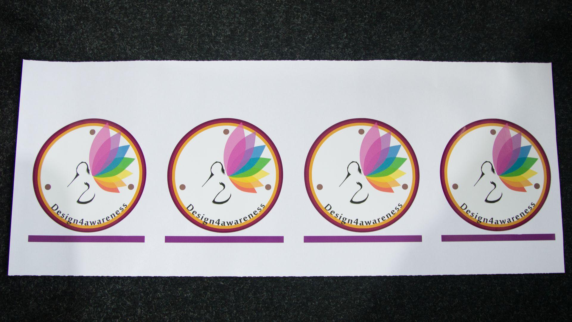 Raamsticker (6) logo, vorm gesneden, verwijderbaar
